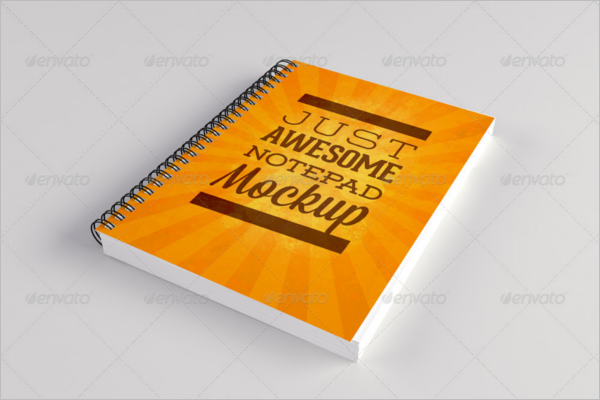 Realistic Notepad Mock-Up