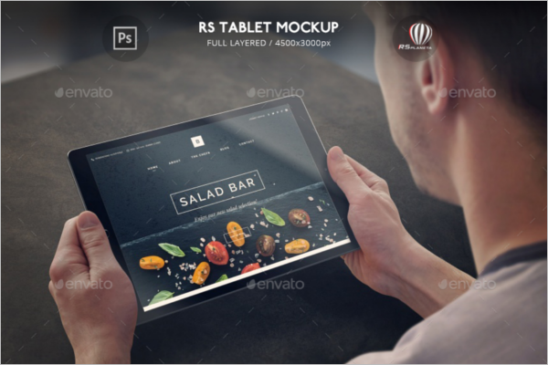 Realistic Tablet Mockup Template