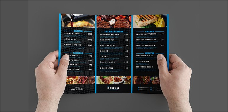 Restaurant Brochure Templates