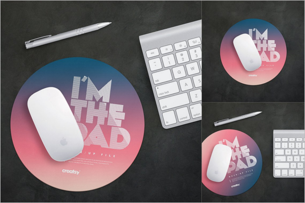 Round Mouse Pad Mockup Template