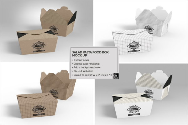 Salad Packaging  Mockup Design