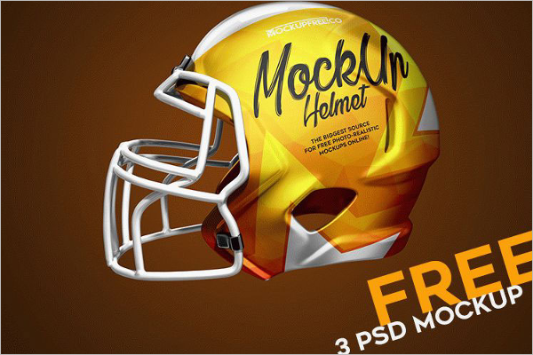 Sample Football Helmet Mockup