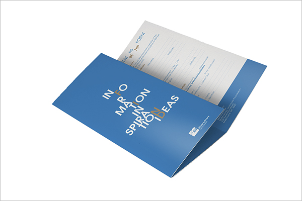 Sample Library Brochure Design