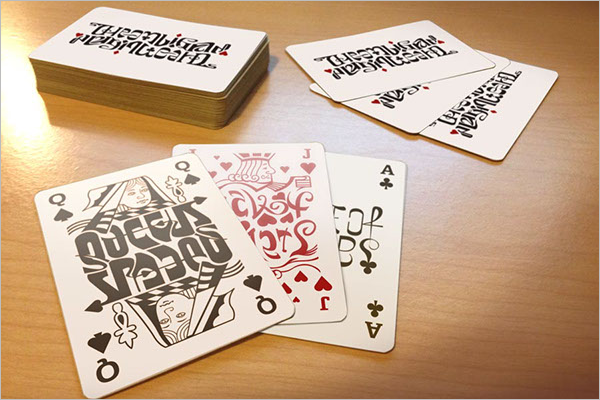 Sample Playing Card Mockup
