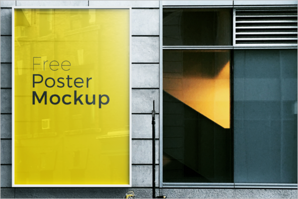 Sample Poster Mockup PSD Design