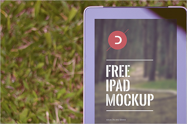 Sample iPad Mockup Design