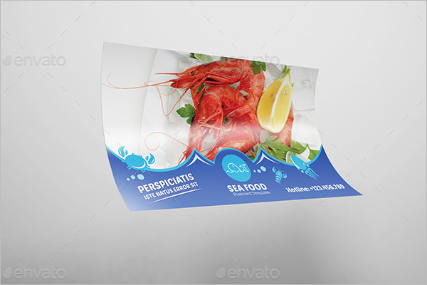 Seafood Table Tent Card Mockup