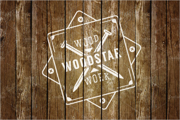 Set Of Wood Logo Mockup Design