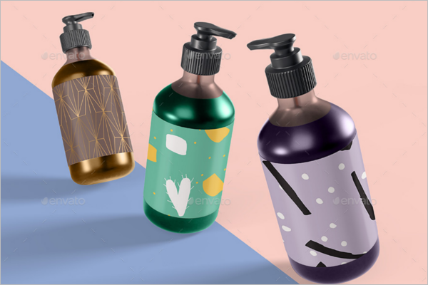 Shampoo Bottle Mockup Design