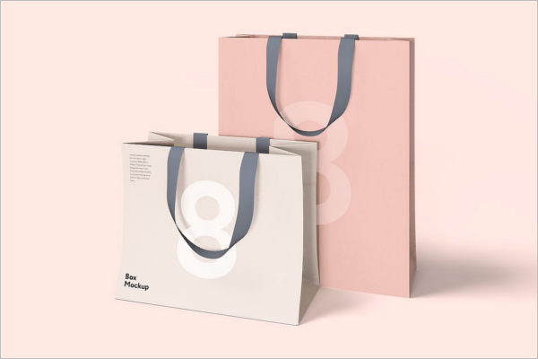 Shoping Bag Package Mockup Design