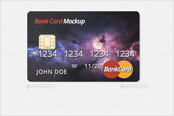 Shopping Credit Card Mockup