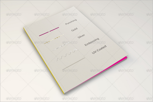 Silver Coated Magazine Cover Mockup