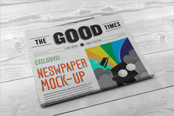 Simple Newspaper Mock up