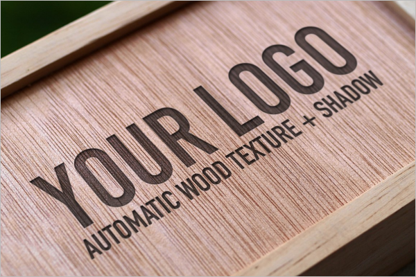 Simple Wood Logo Mockup Deign