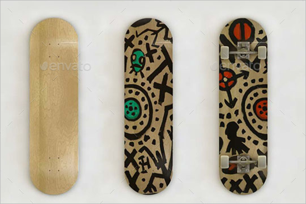 Skateboard Art Mock-Up
