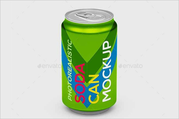 Soda Can Mockup Design