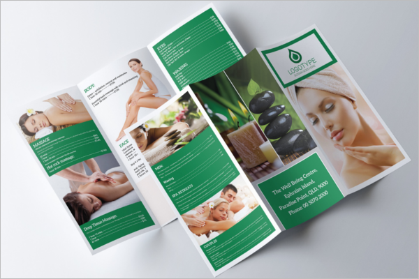 Spa Trifold A4 Brochure Template