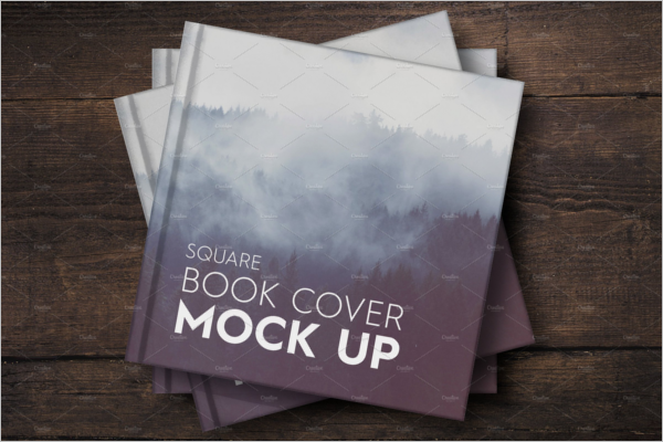 Square Book Cover Mockup Design