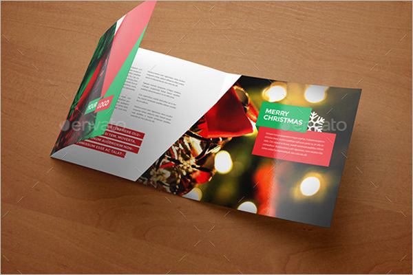 Square Christmas brochure Template