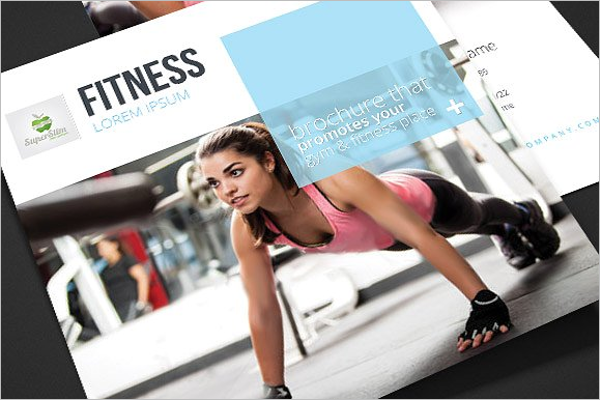 Square GYM Brochure Template