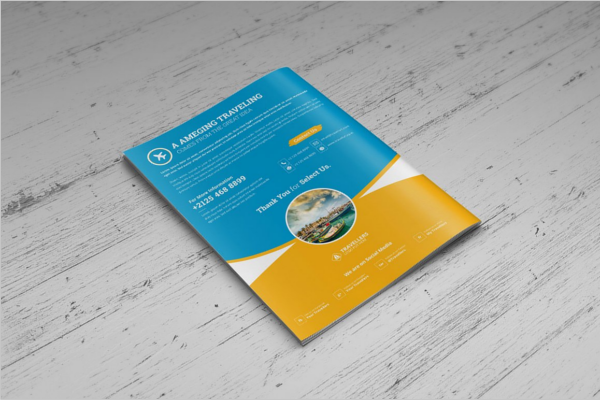 Square Travel Brochure Template