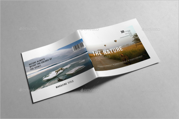Squre Magazine Brochure Template