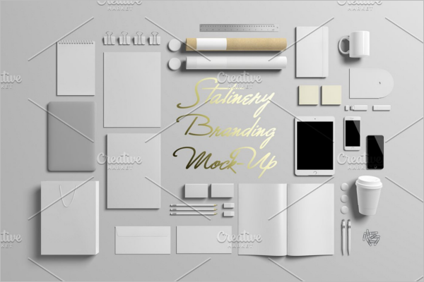 Stationery Paper Bag Mockup Template