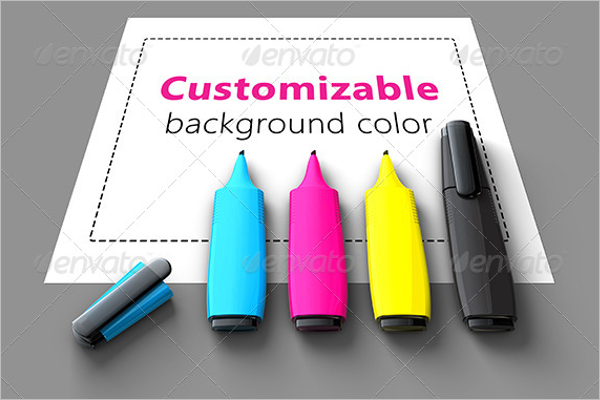 Stationery Pen Mockup