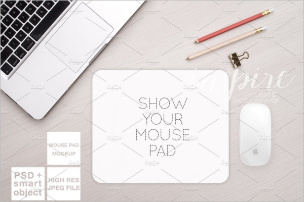 Stylish Mouse Pad Mockup Design