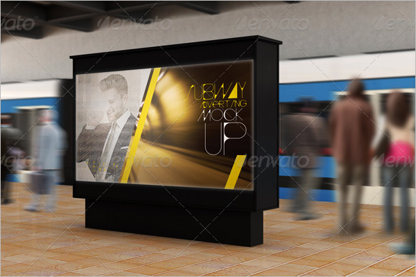 Subway Advertising Mockup