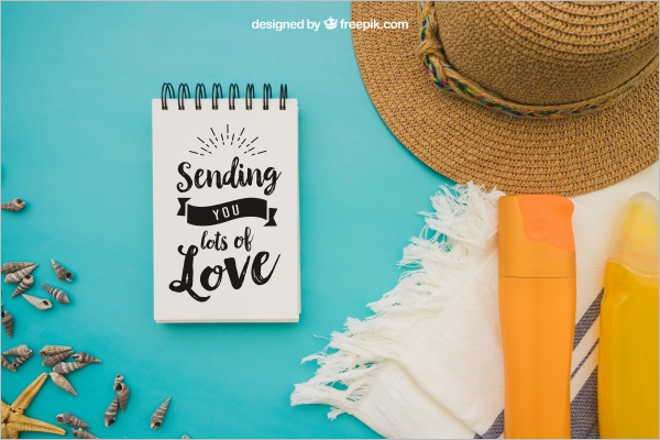 Summer Notepad Mockup