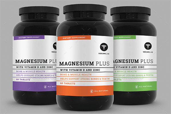 Supplement Products Mockup Design