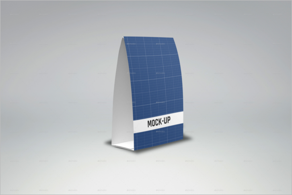 Table Tent Card Mockup Model
