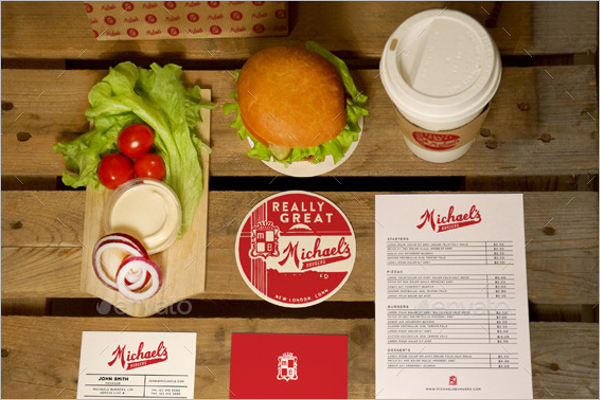Table Tent Restaurant Card Mockup