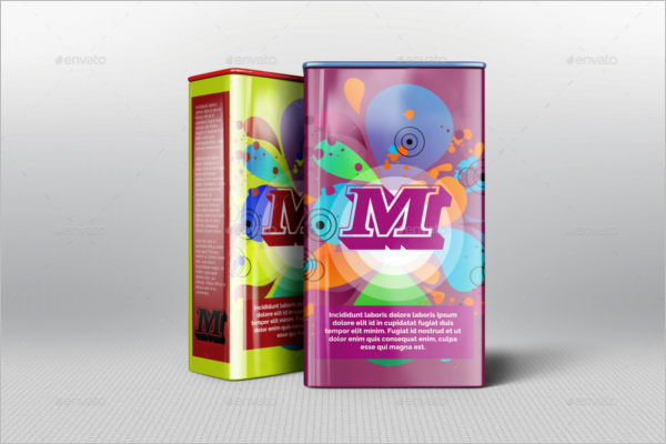 Tin Box Packaging Mockup Design