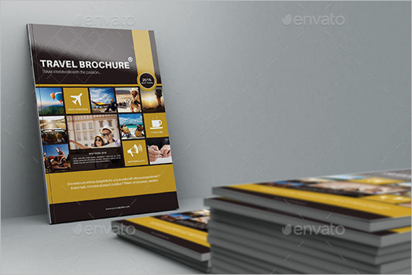 Travel Folded Brochure Template