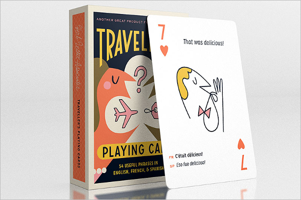 Traveller Playing Card Mockup