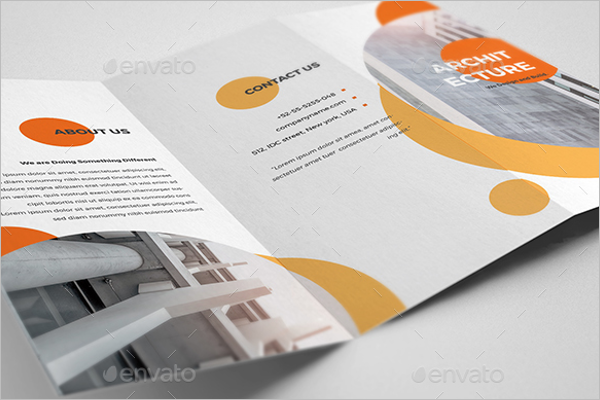 Trifold Architecture Brochure Design