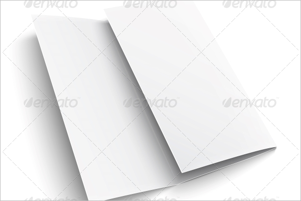 Trifold Blank Brochure Template