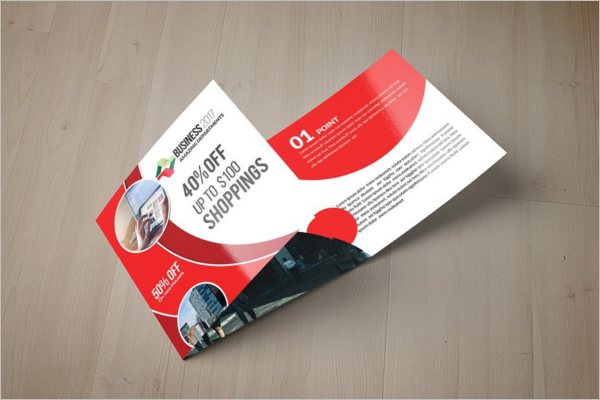 Trifold Christmas Shop Brochure Template