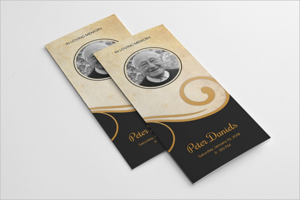 Trifold Funeral Brochure PSD