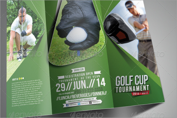Trifold Golf Event Brochure Template