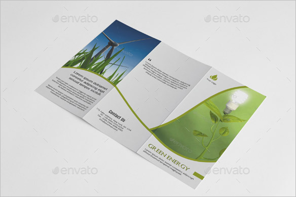 Trifold Green Brochure Template