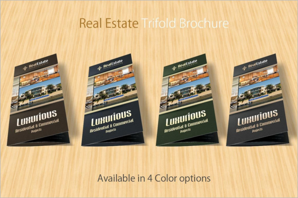 Trifold Real Estate Brochure Template