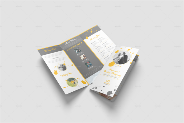 Trifold Wedding Brochure Template