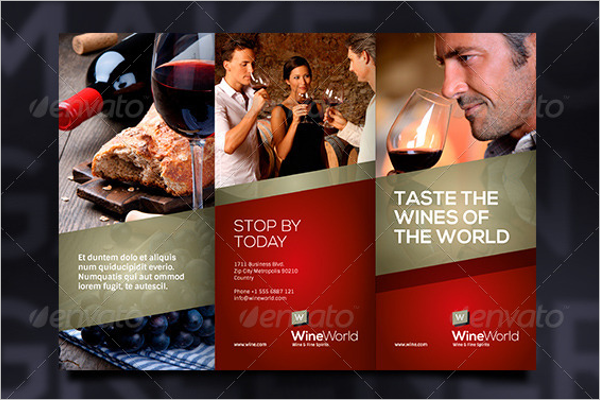 Trifold Wine Brochure