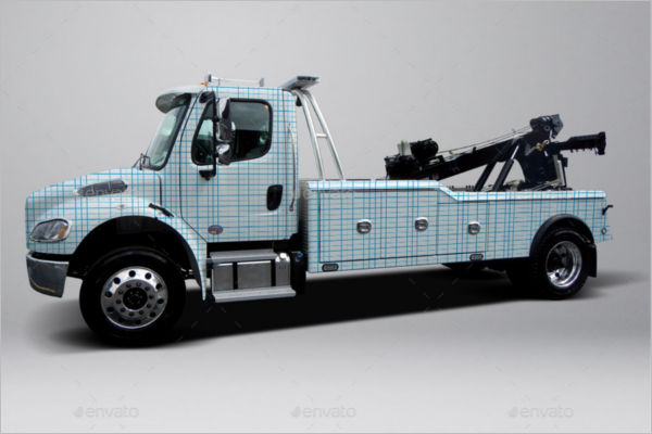 Truck Vehicle Wraps Mockup