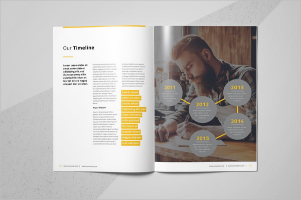 Typographic Brochure Template