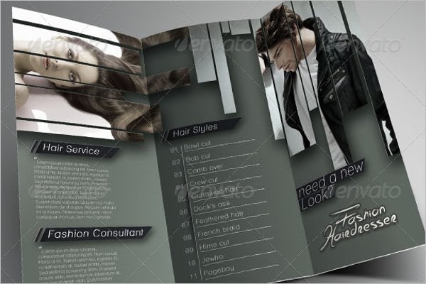 Unisex Salon Brochure Design