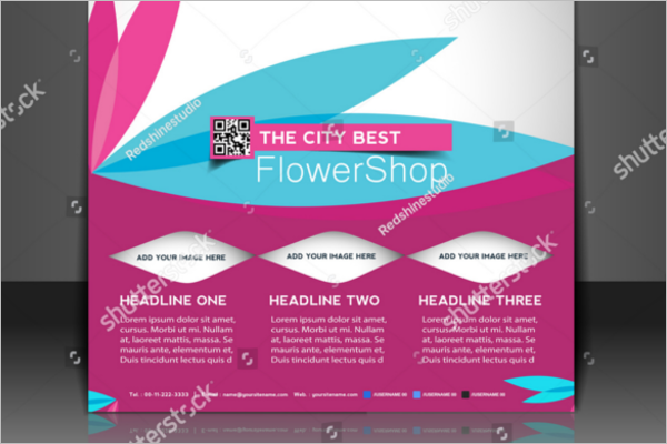 Vector Flower Shop Brochure Free